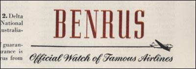 slogan 4 Benrus | 1945