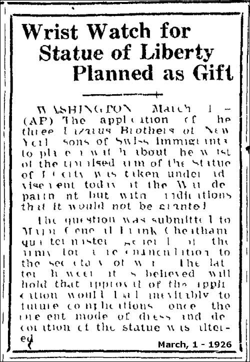 Benrus | 1 martie 1926 (detaliu)