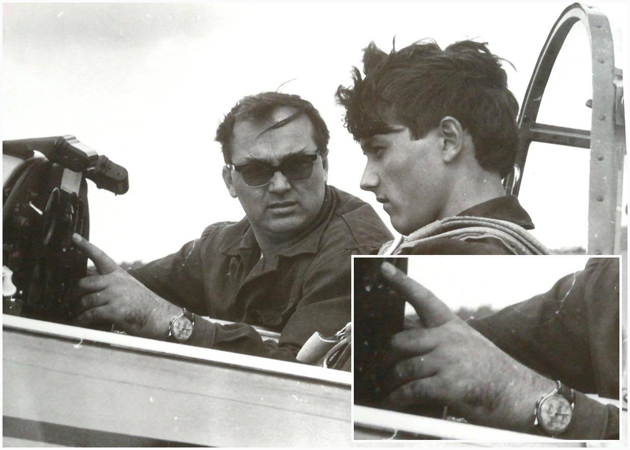 Pilot Instructor - Stefan Calota alaturi de fiul sau - Cristian Calota | avion Zlin-226 | Aerodromul Clinceni (1968) | sursa imagine: Istoria Ilustrata a Aeronauticii Romane (Facebook)