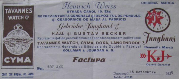 reclama Tavannes | 1938
