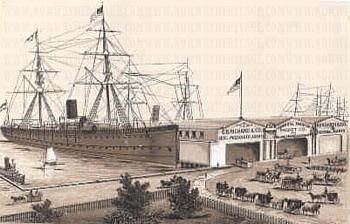 Wiesland ship at docks