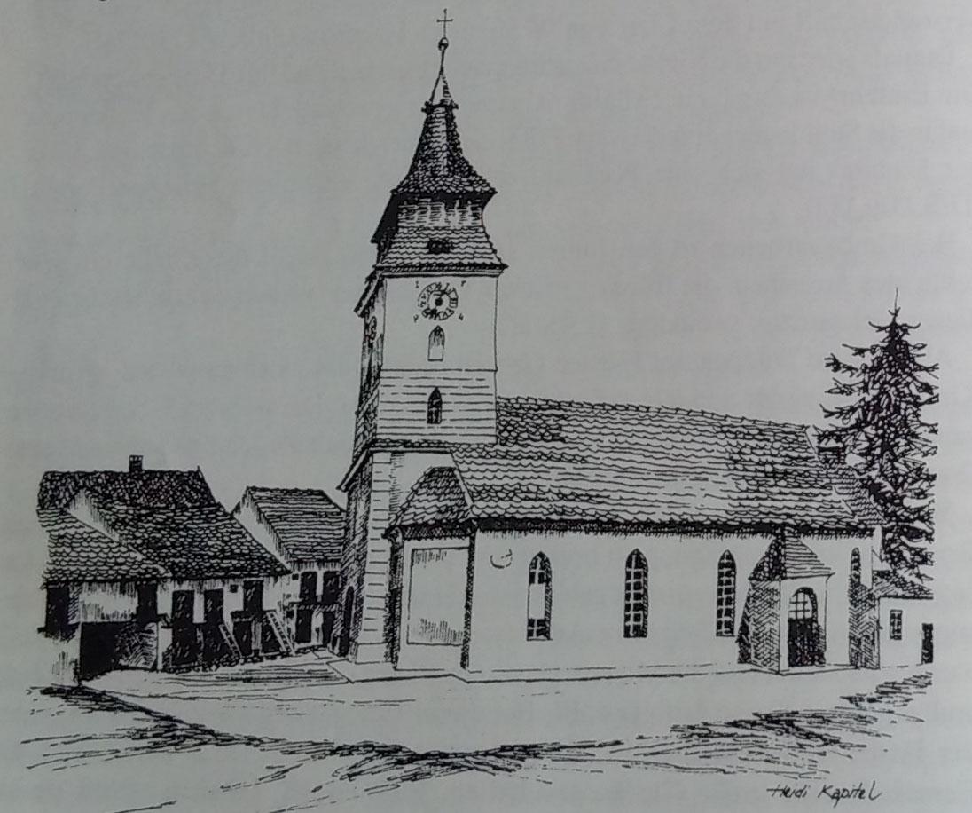 Biserica Fortificata din Vulcan (schita Heidi Kapitel - ref. bibliografie 3)