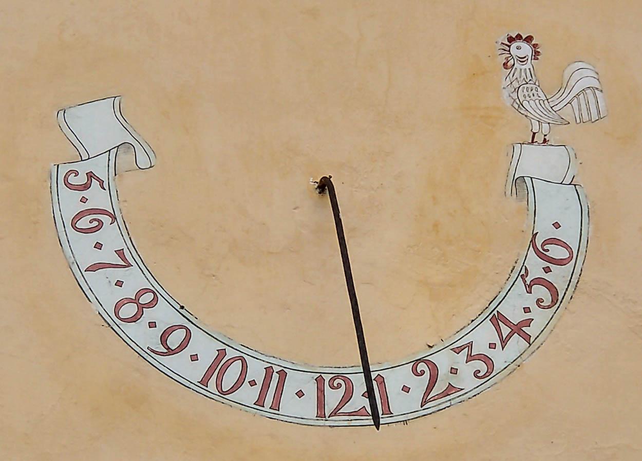 cadran solar - biserica Vulcan