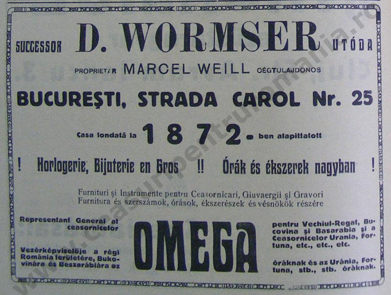 reclama Wormser - Weill | 1923