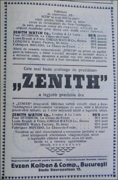 reclama Zenith | 1923